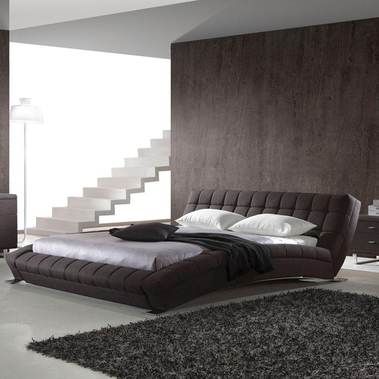 Contemporary Furnitures House King Size Black Leather Beds