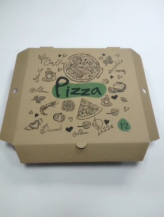 12inch custom printing take out delivery pizza box