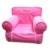 Custom Home Furniture One Seater Sofa Inflatable Armchair With Fabric Cover