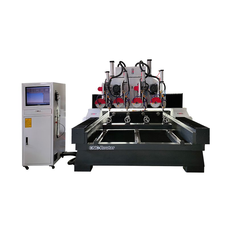 4 Head CNC Router Stone Machinery for Stone Column, Railing, Balustrade, Statue