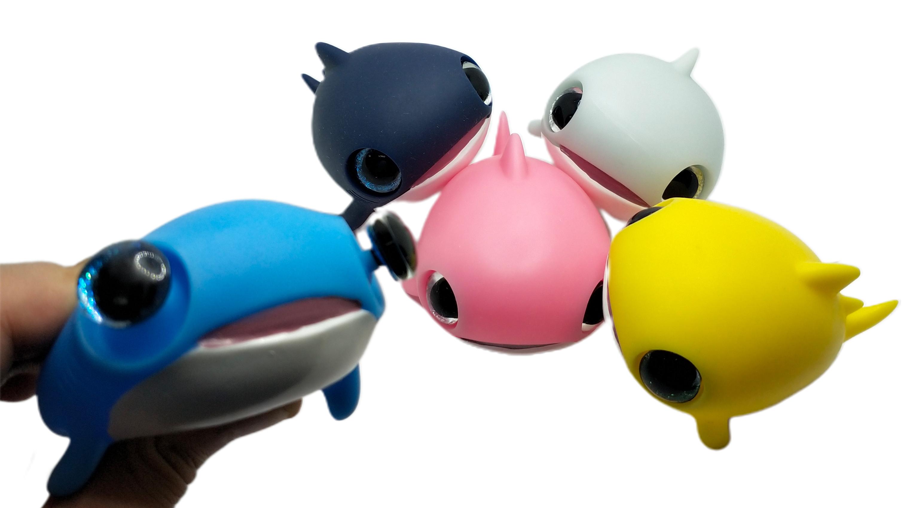 חדש כניסות צהוב צבע באג החוצה כריש Keychain עבור קידום מכירות