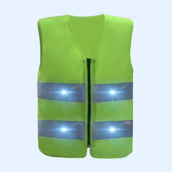 Best-Selling Waterproof LED Light Flashing kids reflective safety vest With USB Rechargeable