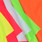 Fluorescent telas DTY fabric spandex 2 side solid dyed brushed fabric for dress pajamas tissue