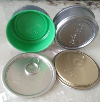 Food paint punching smart bud metal ring pull tin can with clear or black top