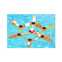 Greece Outdoor Inflatable Floating Water Park Games / Inflatable Sea Waterpark Supplier