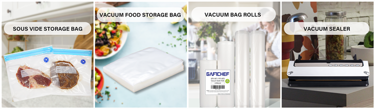2020 High quality embossed vacuum storage bag for food