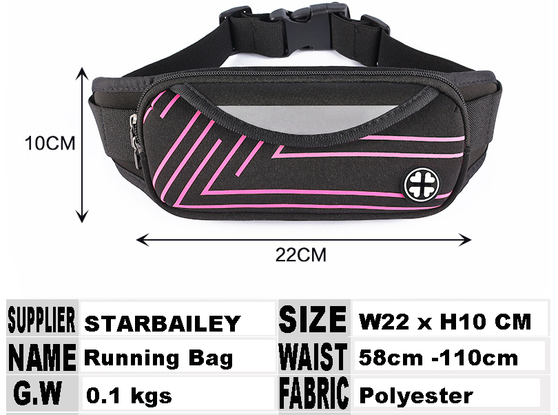 Neoprene Waist Bag Wholesales Spandex Nylon Polyester Running Bag for Cellphone Glasses Sports Slim Jogging Waist Packs