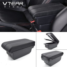 Vtear для Ford ECOSPORT аксессуары автомобильный подлокотник кожаный подлокотник usb коробка для хранения центральная консоль автомобильный стайли...(Китай)