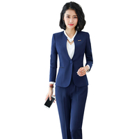 Lenshin Professional wear temperament fashion women skirt suits OL formal long sleeve slim blazer skirt office ladies work set