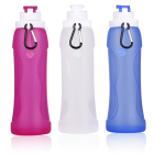 500ML Folding Adjustable Collapsible Silicone Water Bottle