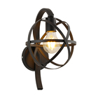 New modern popular products indoor metal iron globe decorative wall lamp light white gold wall lamp