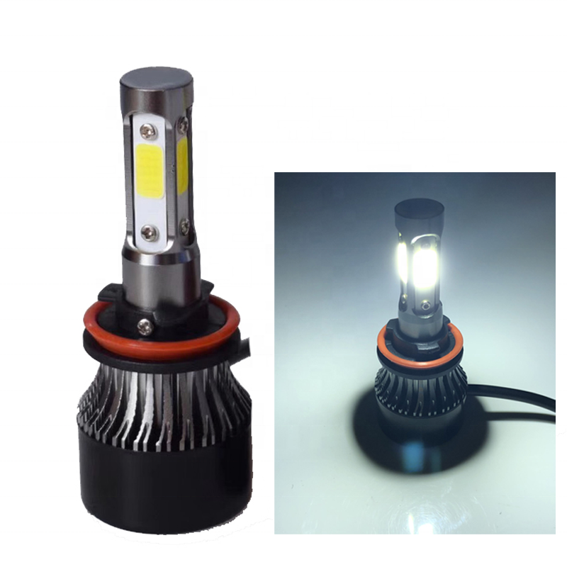 2020 auto light system accessories 4 side 360 degree <strong>COB</strong> <strong>Led</strong> Car <strong>headlight</strong> S2 H8 H9 H11 72W C6 auto headlamp fog light