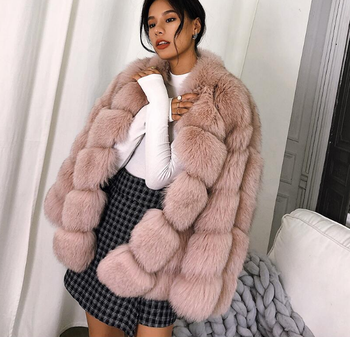 Luxury Winter Imported real fox fur coats 2020 winter new fur coat ladies cropped fur jacket