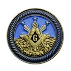 Cheap bezels wholesale custom made engraved blank masonic antique brass enamel old metal challenge coins no minimum