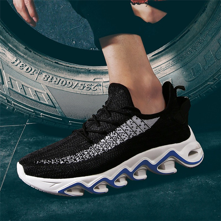 zapatos deportivos custom logo breathable mesh fabric lightweight air cushion man running sneakers mens casual sports shoes