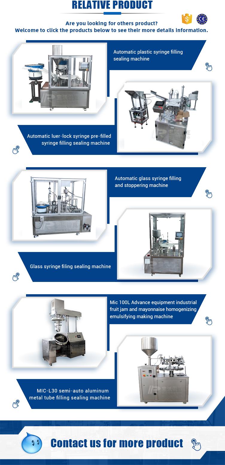 High speed medicine saline solution liquid pre-filled syringe filling sealing machine