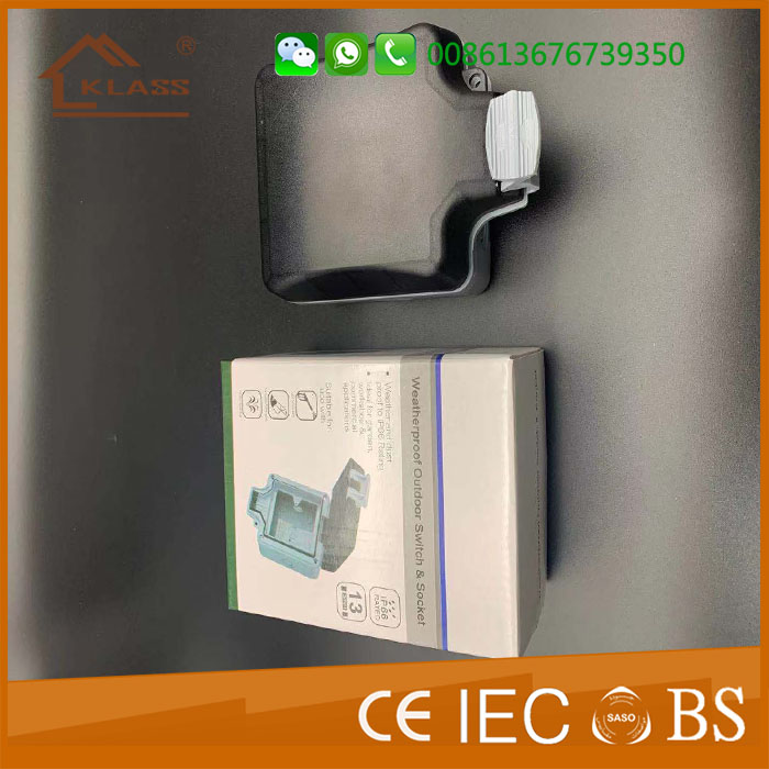 Ip66 Ip65 Ip54 Single Switched 13a Water Proof Outdoor Socket Box Pc  Abs