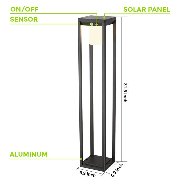 Professional made different types led aluminium high lumen led light with solar panel