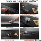 Doopen Smart Kitchen Appliance Black Glass 4 Burners Commercial Induction Cooker 5000W Energy Saving Stove