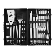 26pc Rvs BBQ Grill Tool Set Compleet Outdoor <span class=keywords><strong>Barbecue</strong></span> Grillen Accessoires <span class=keywords><strong>Kit</strong></span> in Aluminium Storage Case