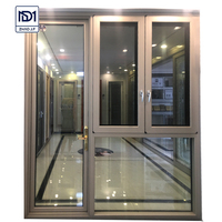 Factory outlet aluminum casement windows hinge handle swing out aluminum door and window