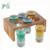 Wholesale New Design 100% Natural Eco-friendly Easy Carry Bamboo Glass Holder Tray For Display