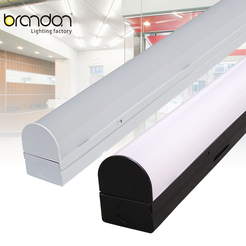 shop used surface mount DLC 4FT 30w linear commercial dimmable wrap led strip light fixture
