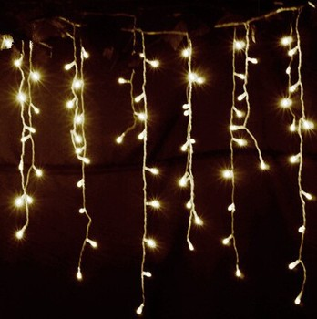 Diwali Warm white waterfall dripping led icicle christmas lights wedding building wall decoration