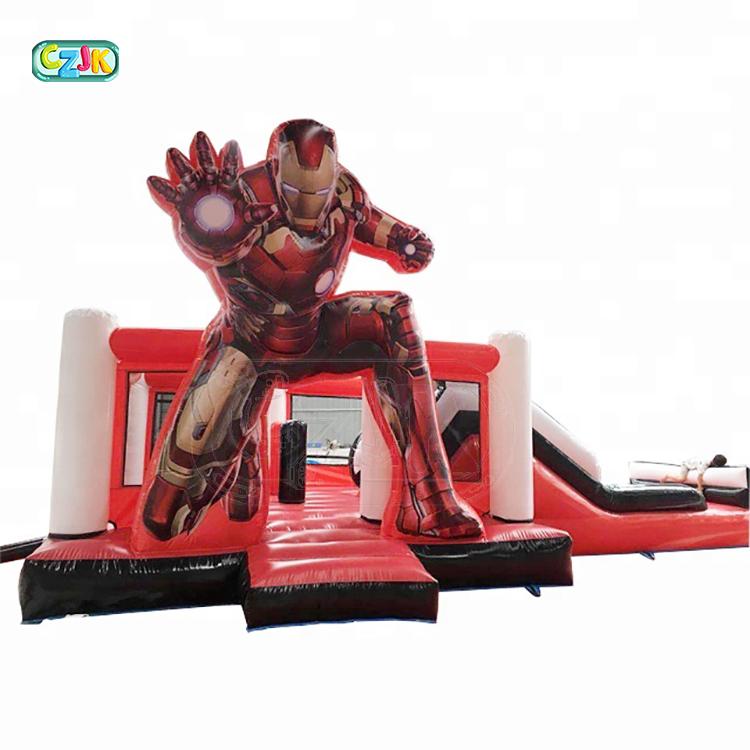 Homem aranha criança pulando castelo inflável corrediça de água inflável comercial