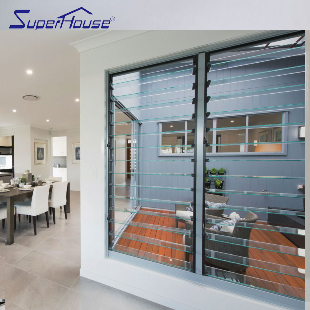 Superhouse brand wholesales Australia standard adjustable glass louvre window