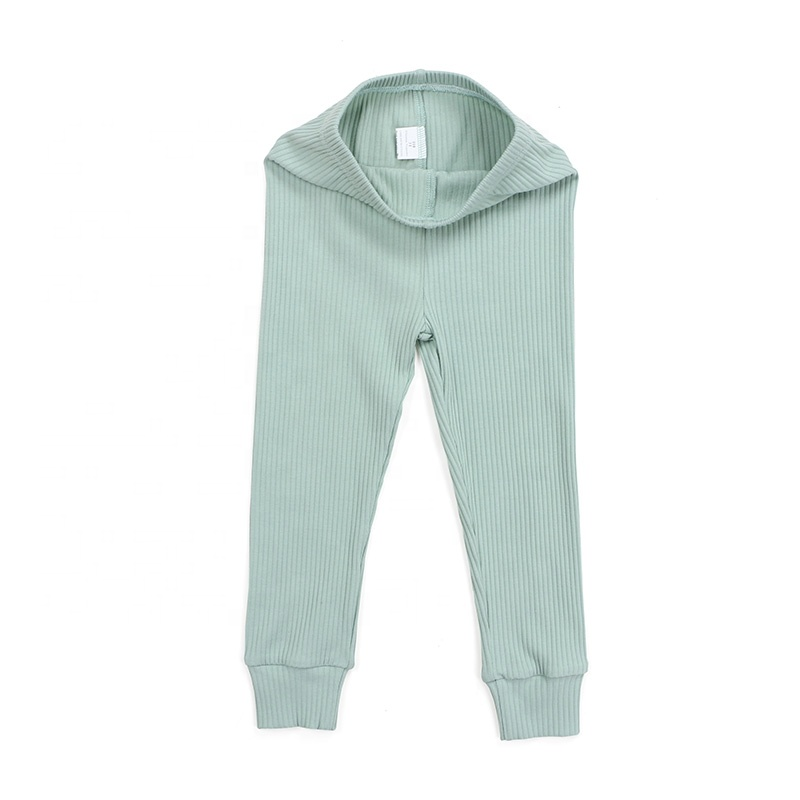 Popular design baby pants clothes ribbed cotton fabric kids newborn children pants clothing