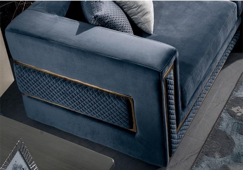 Европейский стиль, легкие роскошные диваны для гостиной, синие диваны для диванов, классическая мебель