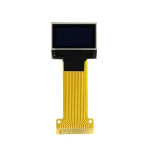 Taidacent White iic I2C 14pin Soldering Long Cable 3.3V SSD1306 Driver Mirco Flexible Transparent Display Oled 64x32 0.49 Oled