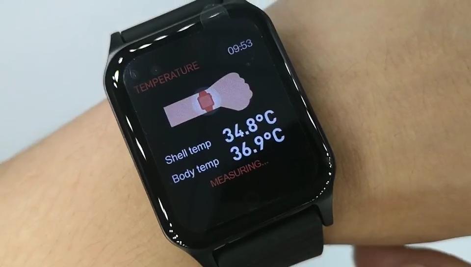 الصحة ميزان الحرارة الحمى قياس درجة الحرارة الدم الأكسجين الضغط بلوتوث Cicret تخطيط القلب PPG SPO2 ساعة اللياقة البدنية سوار ذكي