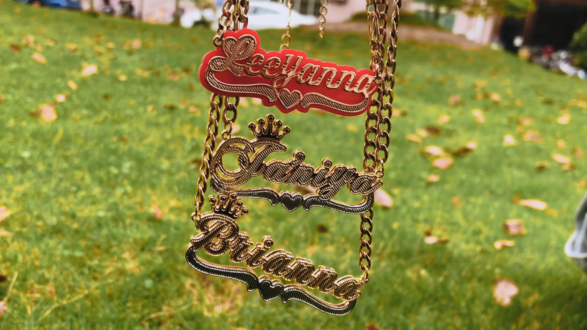 Горячая стильная Персонализированная бижутерия на заказ ожерелье с буквенным именем ожерелье для женщин