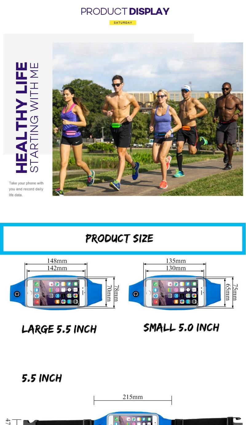 Promising iphone running belt comfortable gearwear waistband for iphone holder waterproof running belt