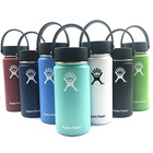 Hot Sale bpa free painted 32oz 40oz double wall insulated hydro 304 stainless steel flask wide mouth with straw