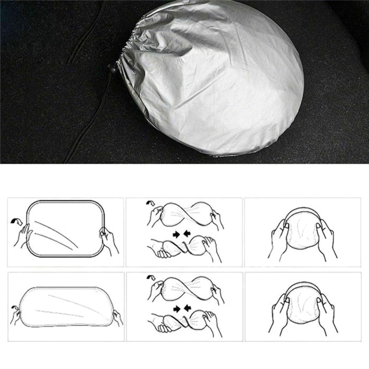 6 pcs car windshield front windshield sunshade auto foldable reflective block cover sun shade