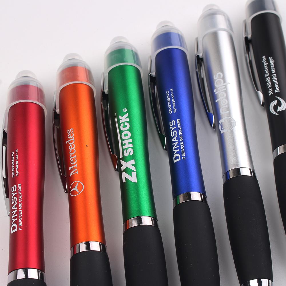 Led Light Lighting Up Bright Laser Custom Logo stylus Pen