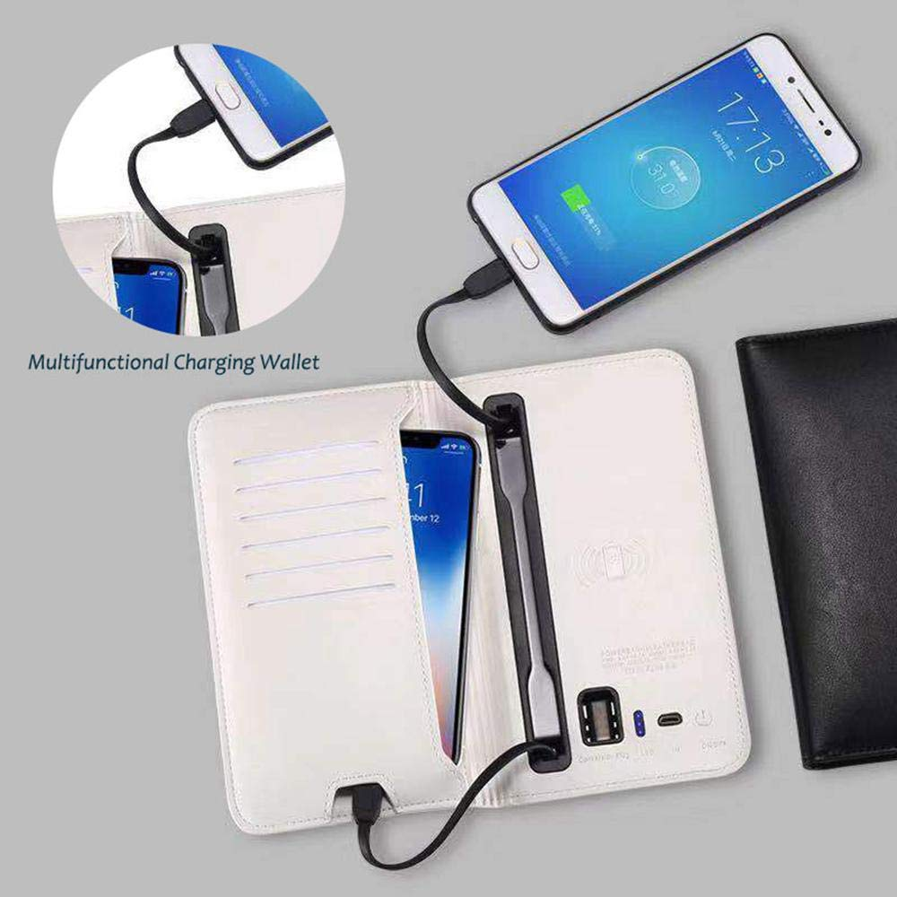 rfid wallet with power bank