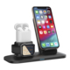 2019 Newest 3 in 1 Wireless Charging Station, Phone Stand Charger Dock with Qi Charger 10W for iphone