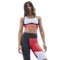 Letter Printing Yoga Tank Top Women 2 piece Short Casual Sportswear Yoga Sports Set