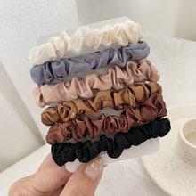 Набор резинок для волос 3-6 шт., женские эластичные резинки для волос, трендовые атласные бархатные держатели для хвоста, женские аксессуары ...(Китай)