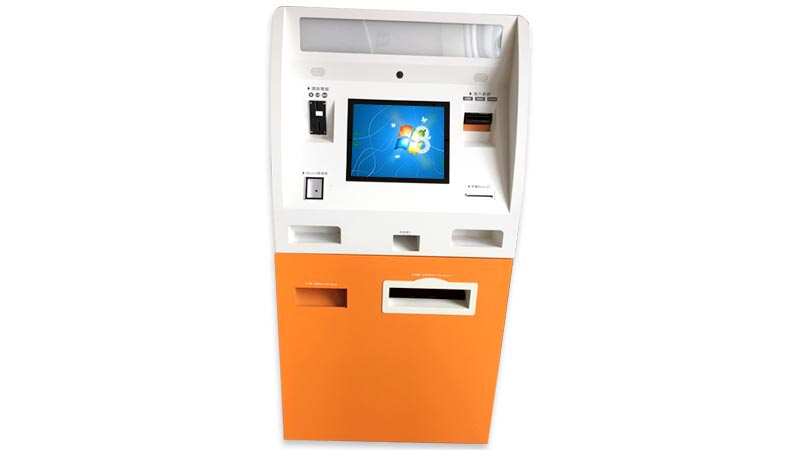 Competitive price ATM kiosk for cash payment and accept in bank  with card dispenser function and scanner Shenzhen manufacturer