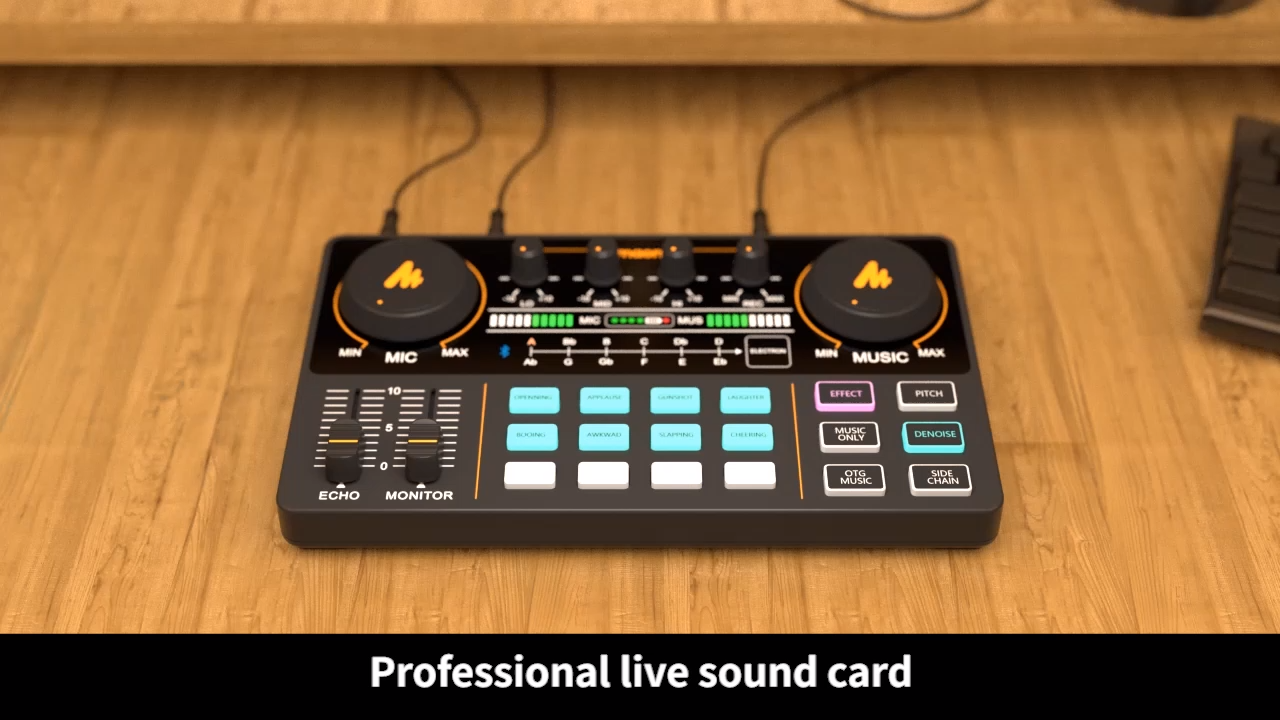 MAONOCASTER Audio Interface Recording Studio Sound Card Audio Interface Multi-Channel Mixing Streaming Sound Card