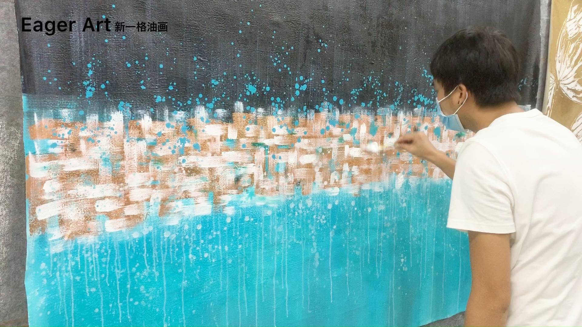 Высококачественная Настенная картина Dafen с рамкой для оформления гостиничного проекта, Картина на холсте ручной работы