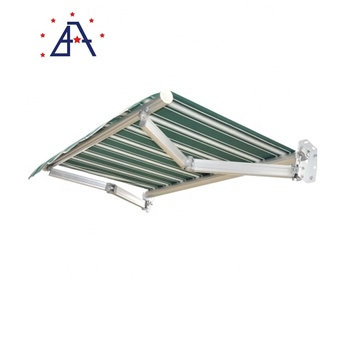Outdoor Patio Manual Operation Polyester Retractable Awnings for Sun Protection