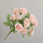 Wholesale 5 Color 10 head Artificial roses Flower bouquet nordic Outdoor wedding decoration artificial roses
