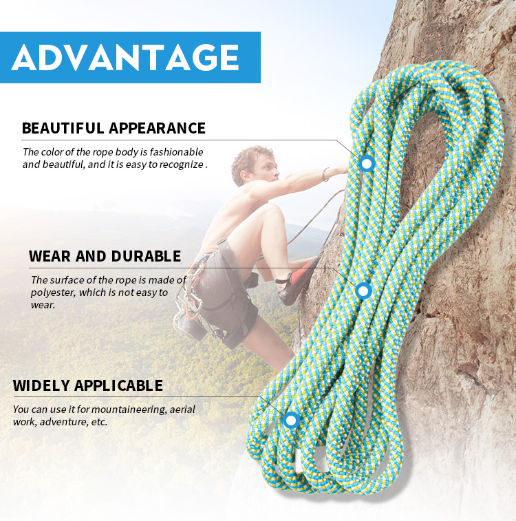 high quality static rope 10mm for climbing rope
