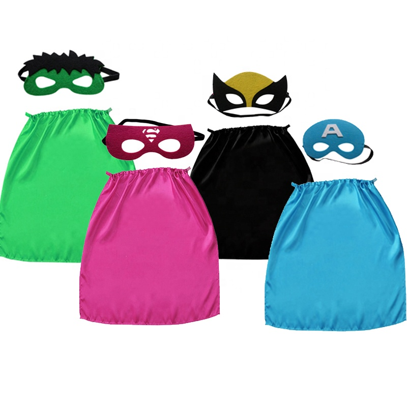 4 Sets <strong>Kids</strong> Dress Up Super Hero Promotional Costume <strong>Superhero</strong> <strong>Cape</strong> and Mask